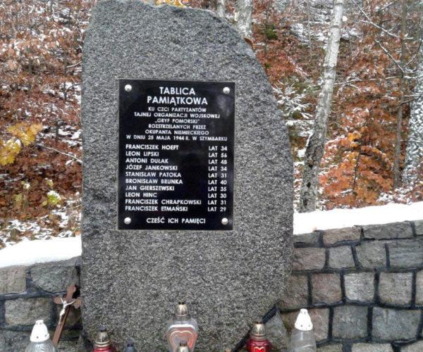 pomnik z tablicą pamiatkową