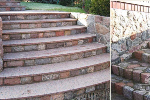 schody stopnie granitowe zewnetrzne