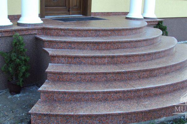 schody granitowe schody przed domem
