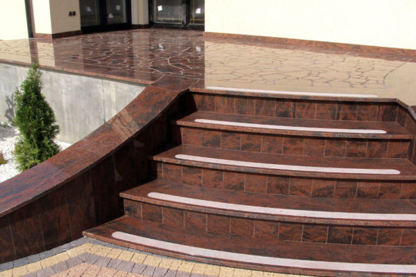 schody z tarasu