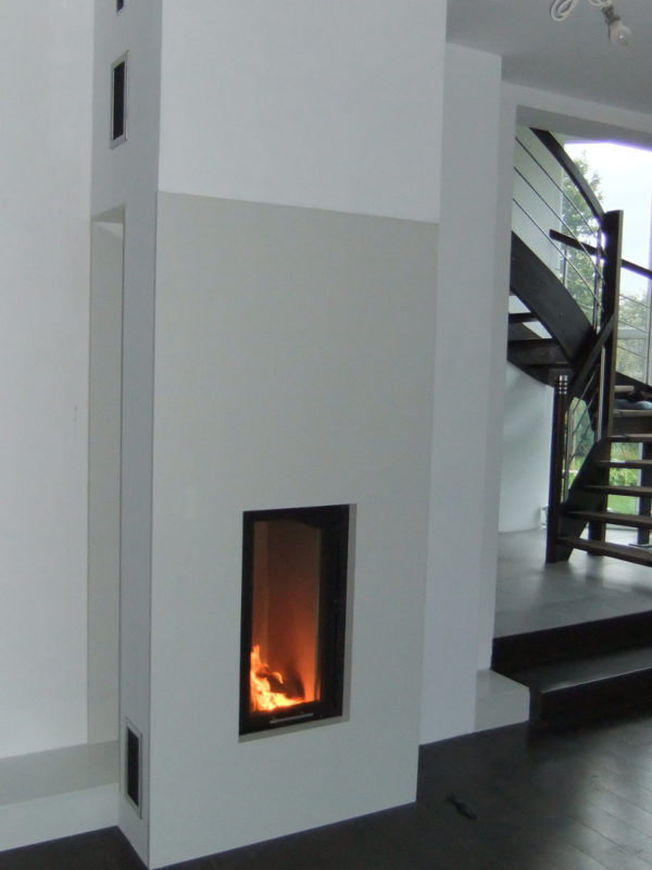 modern fireplaces made of white marble