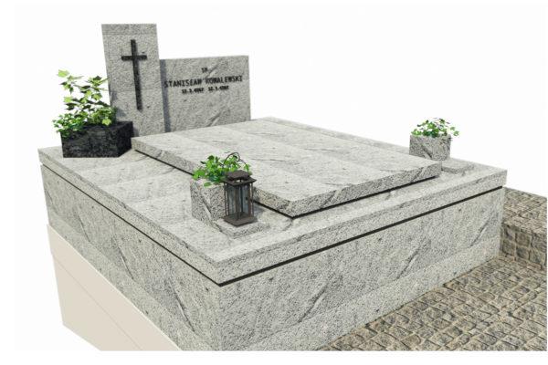 grobowiec z jasnego granitu