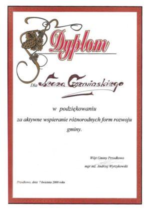 dyplom wspieranie gminy