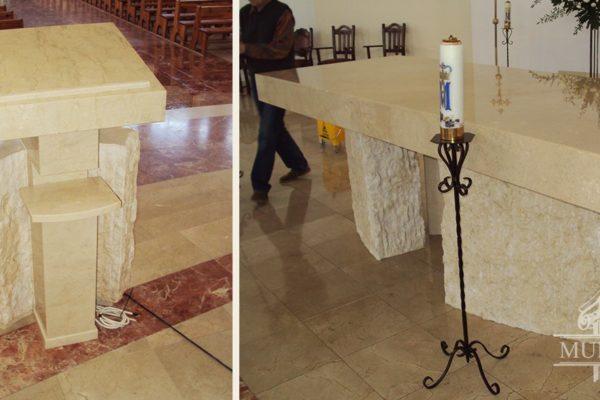 kamienny oltarz