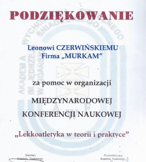 Podziękowania dla Leona Czerwińskiego
