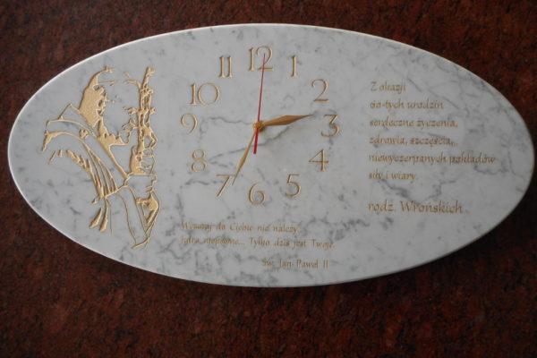 zegar z grawerem