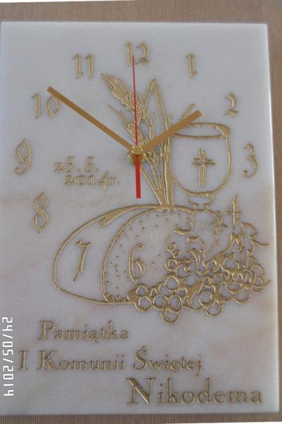 zegar pamiątkowy z marmuru